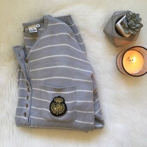 Vintage Striped Oversized Sweater